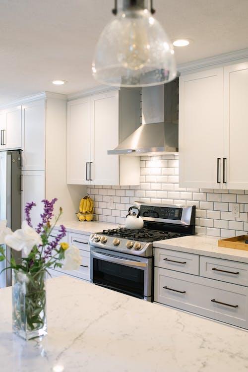 Free stock photo of kitchen, stove, subway tile