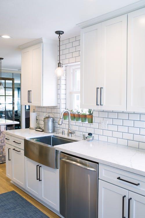 counter, kitchen, sink