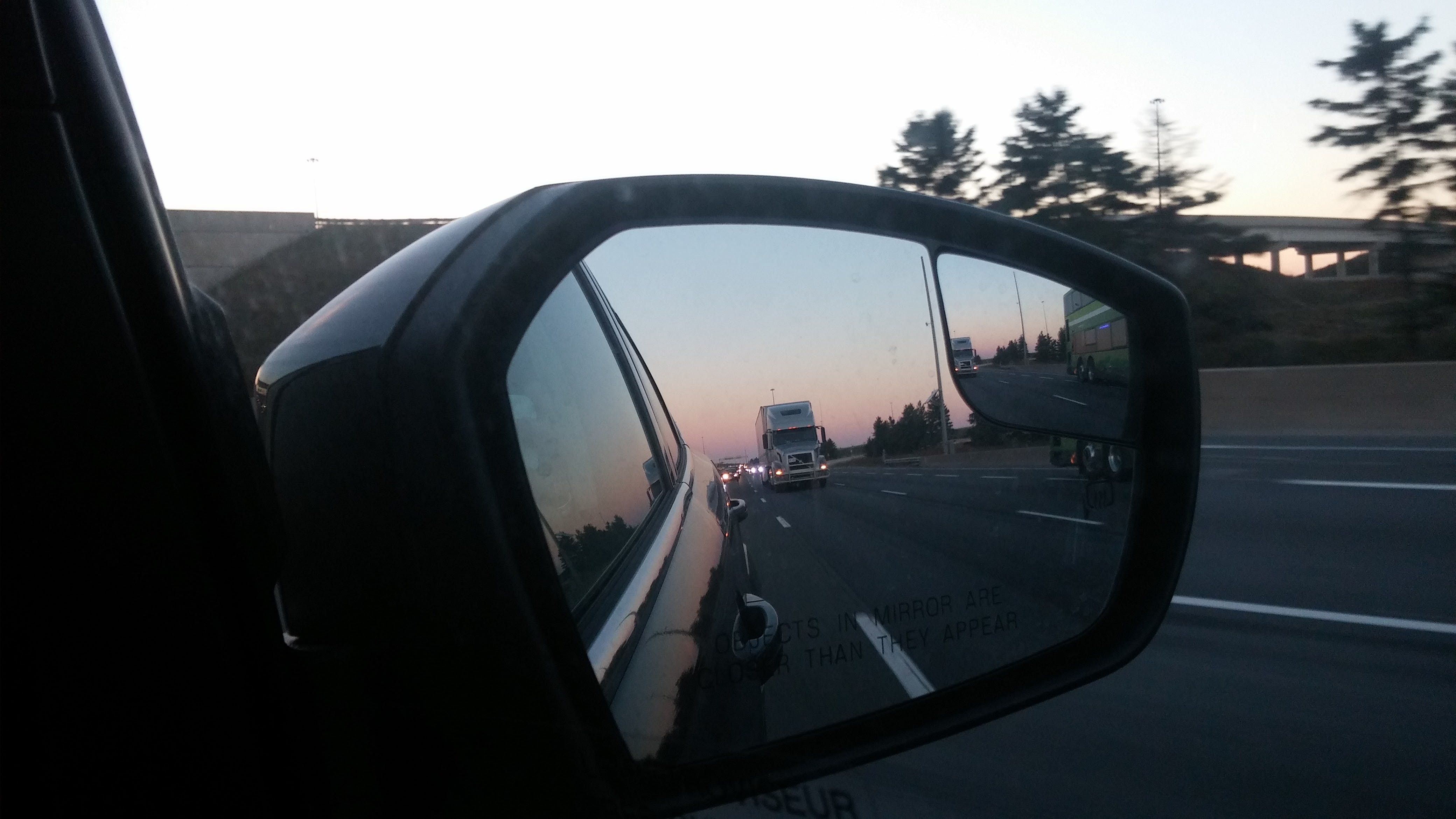 Free stock photo of highway, mirror, side mirror, truck