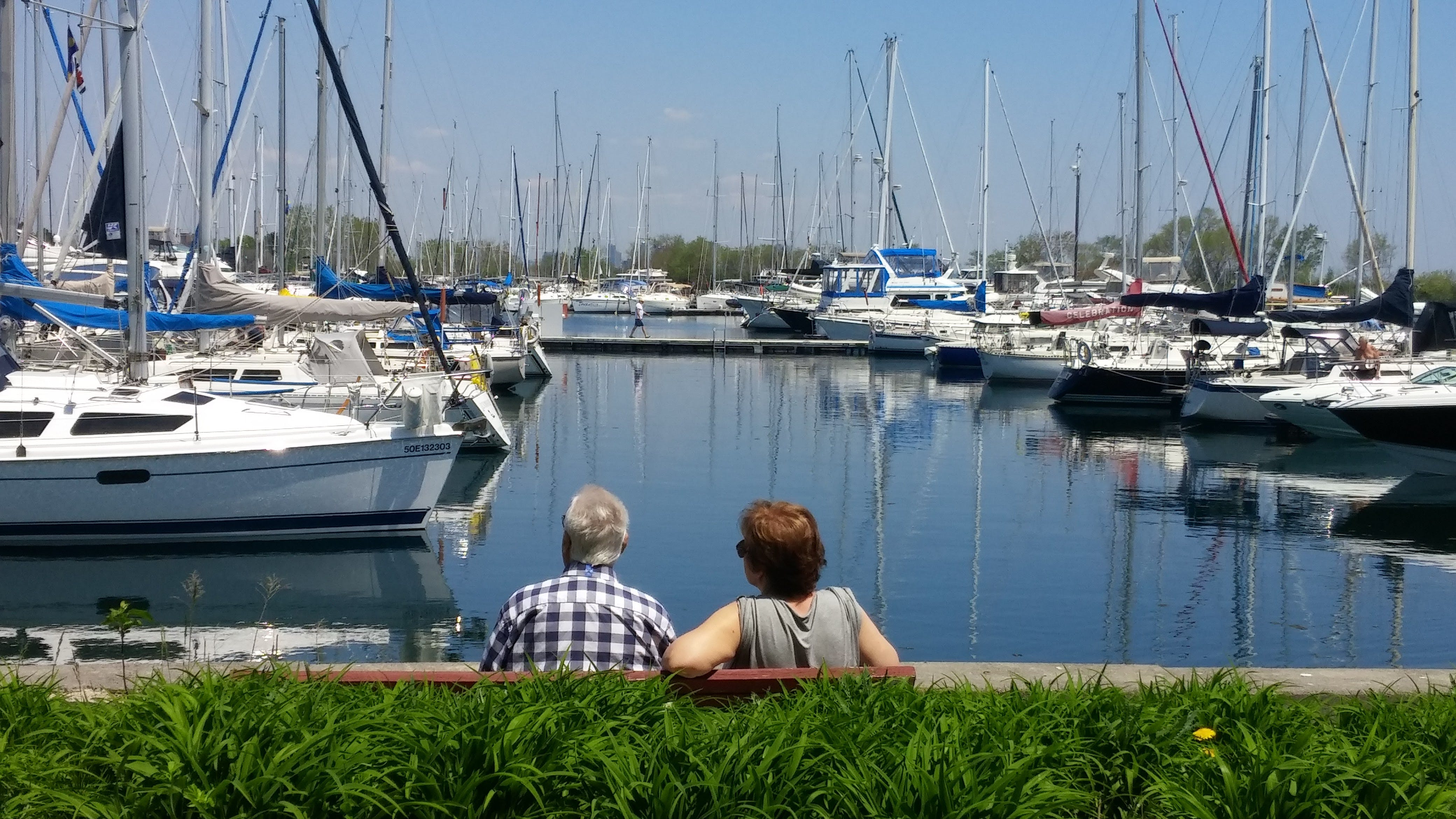 Free stock photo of boats, couple, harbour, sailboats