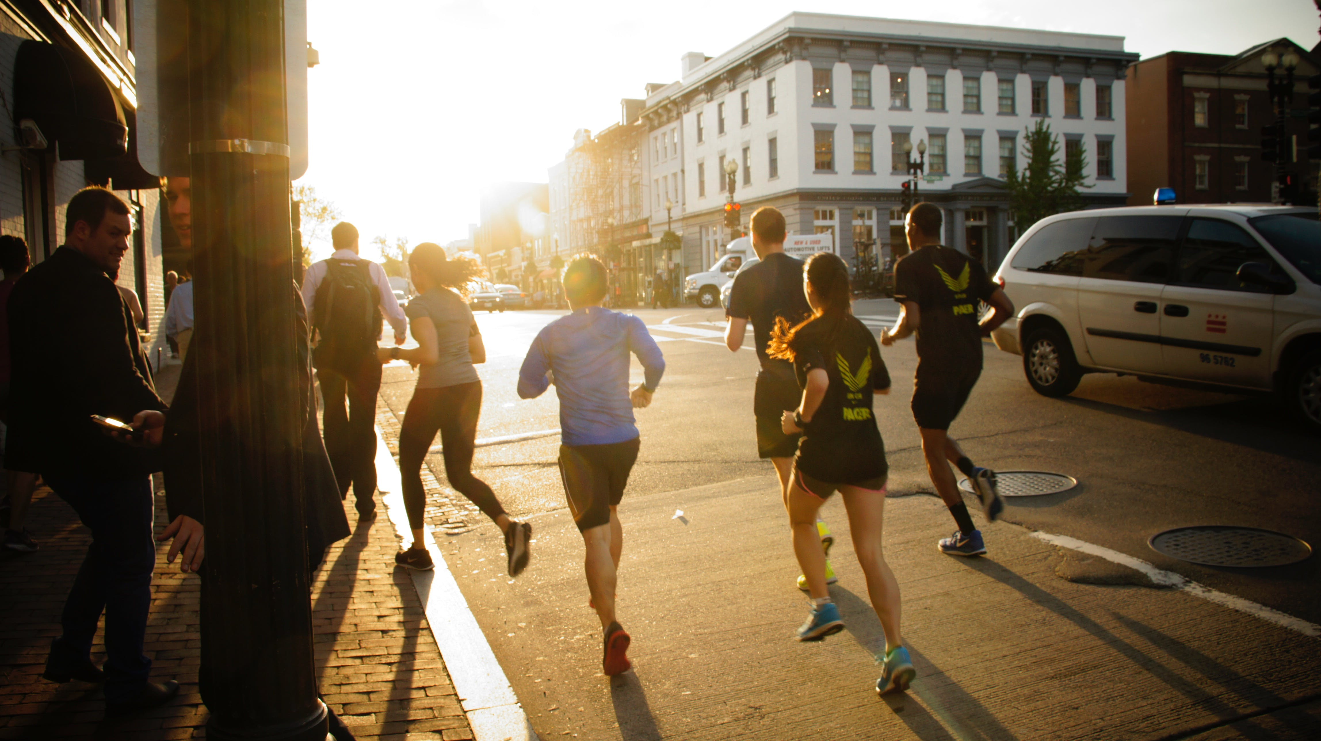 backlight, runners, running