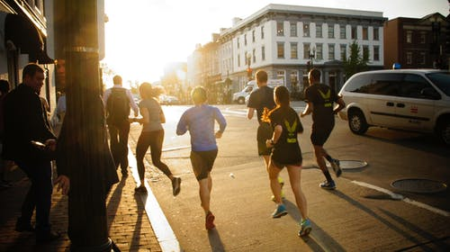 Free stock photo of backlight, runners