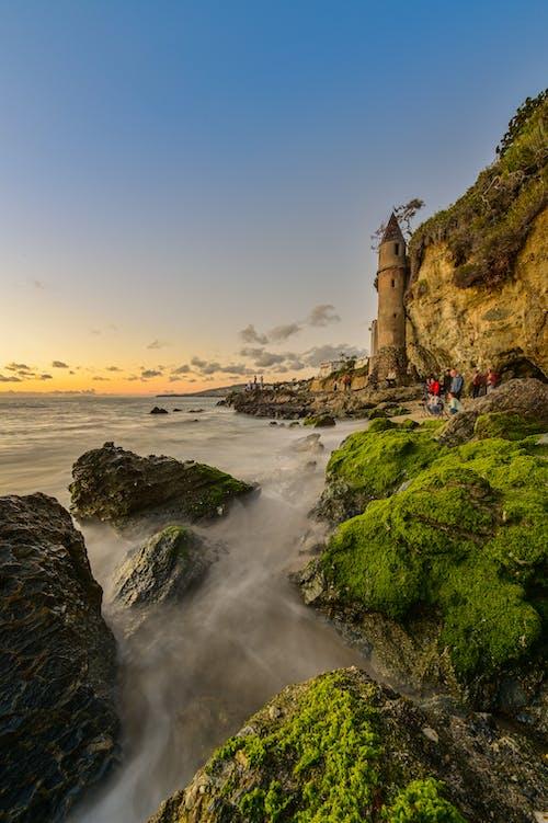 Foto stok gratis Fajar, fotografi, gelombang, hijau