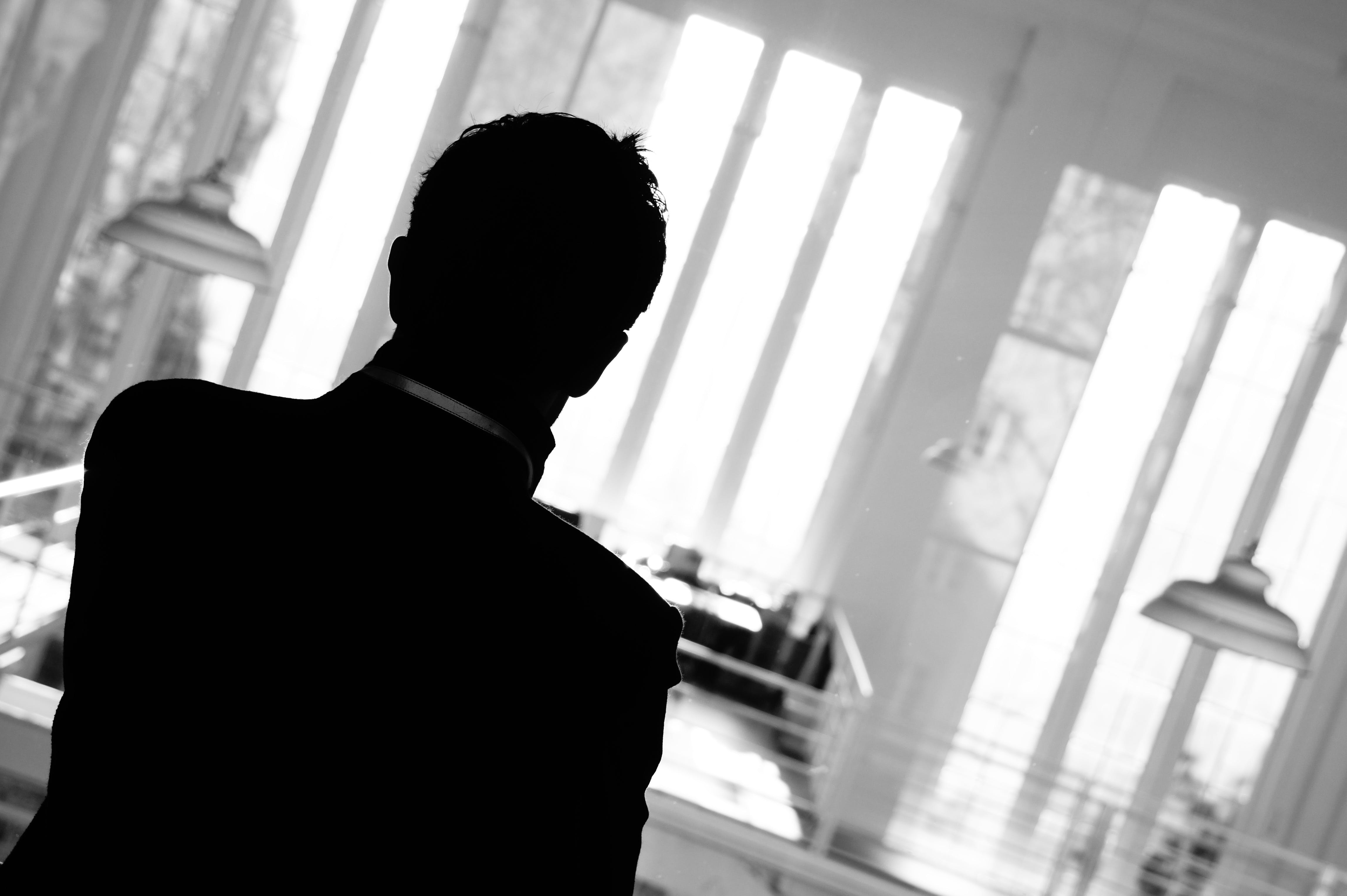 Free stock photo of berlin, black-and-white, glass, man