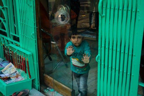 Základová fotografie zdarma na téma dveře, mátově zelená, monochromatický, odraz