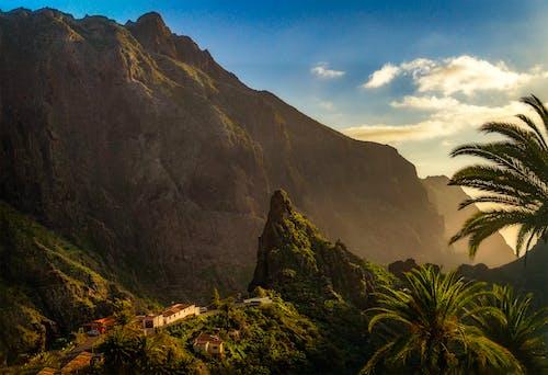 dağ, doğa, gün batımı, gün doğumu içeren Ücretsiz stok fotoğraf