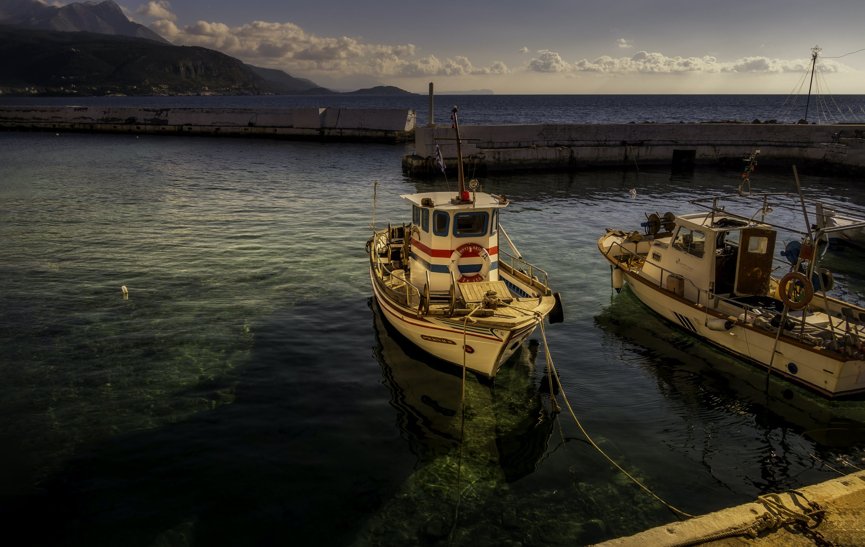 Free stock photo of boats, harbour