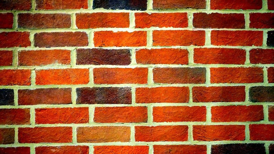 Landscape photography of orange brick wall