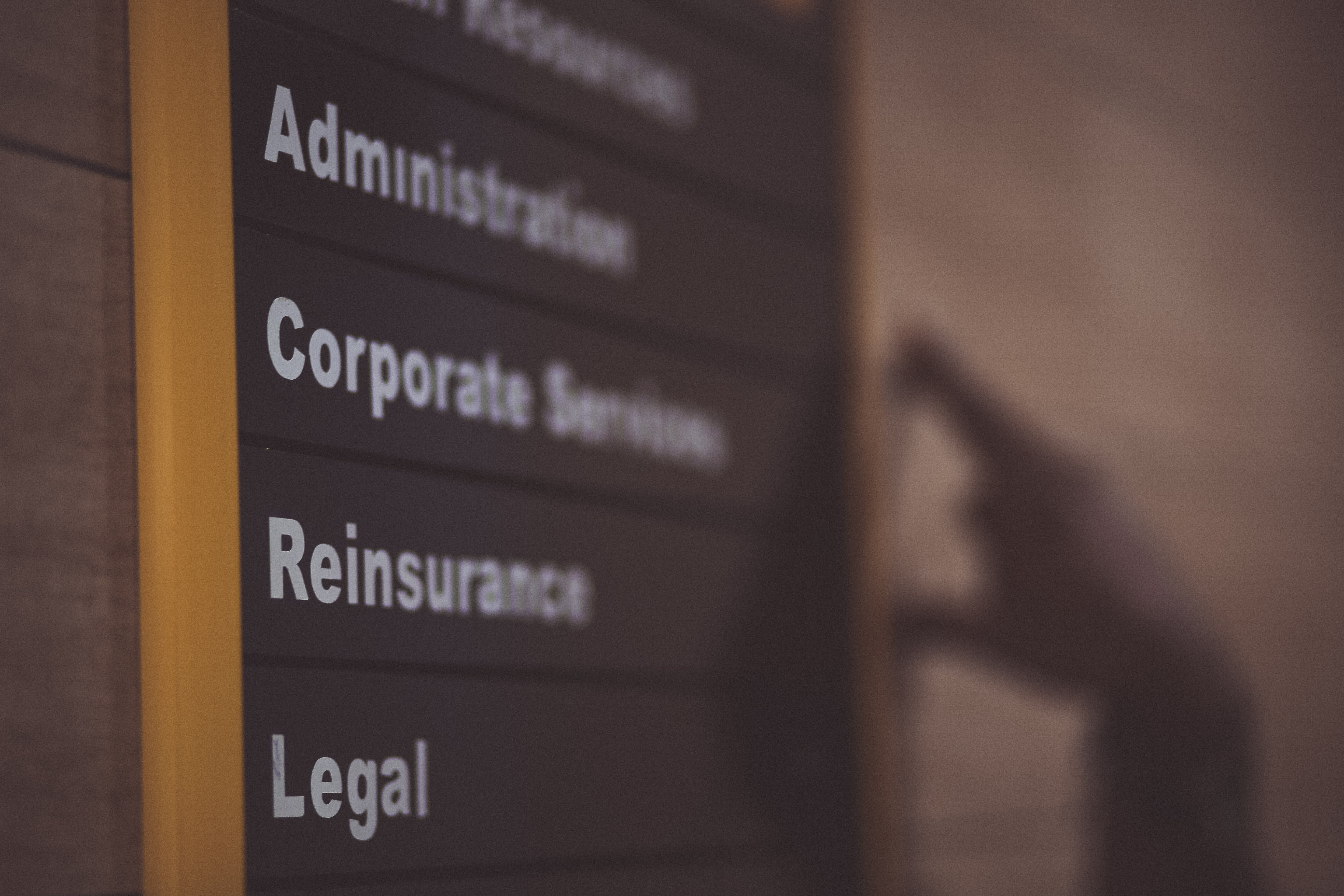Administration Corporate Services Reinsurance Legal ...