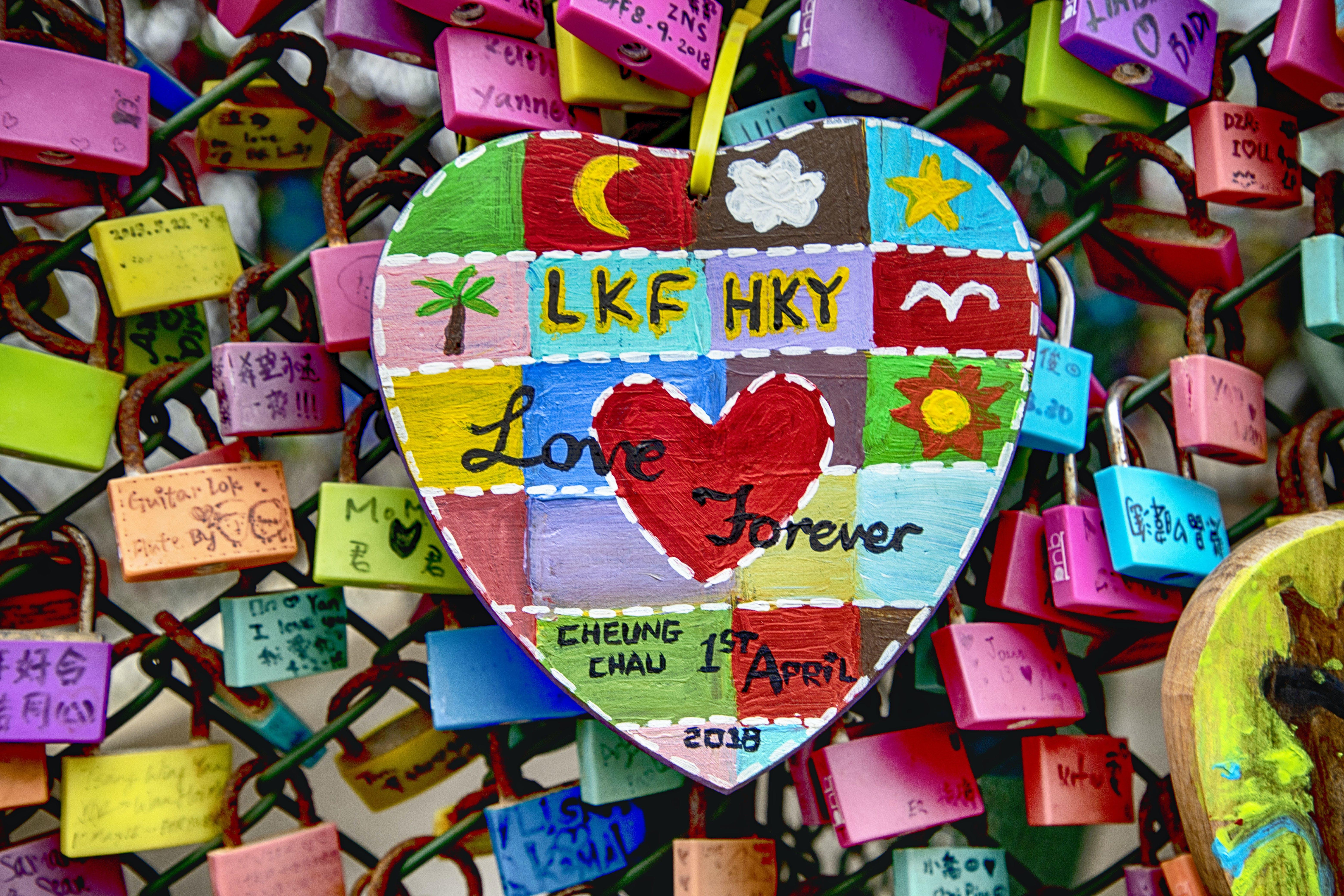 Free stock photo of love locks