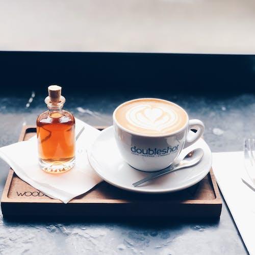 Free stock photo of black coffee, brown sugar, cappuccino