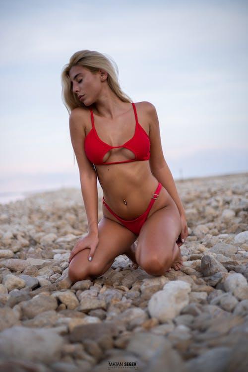 スイミングプール, セクシー, ビーチ, 岩の無料の写真素材