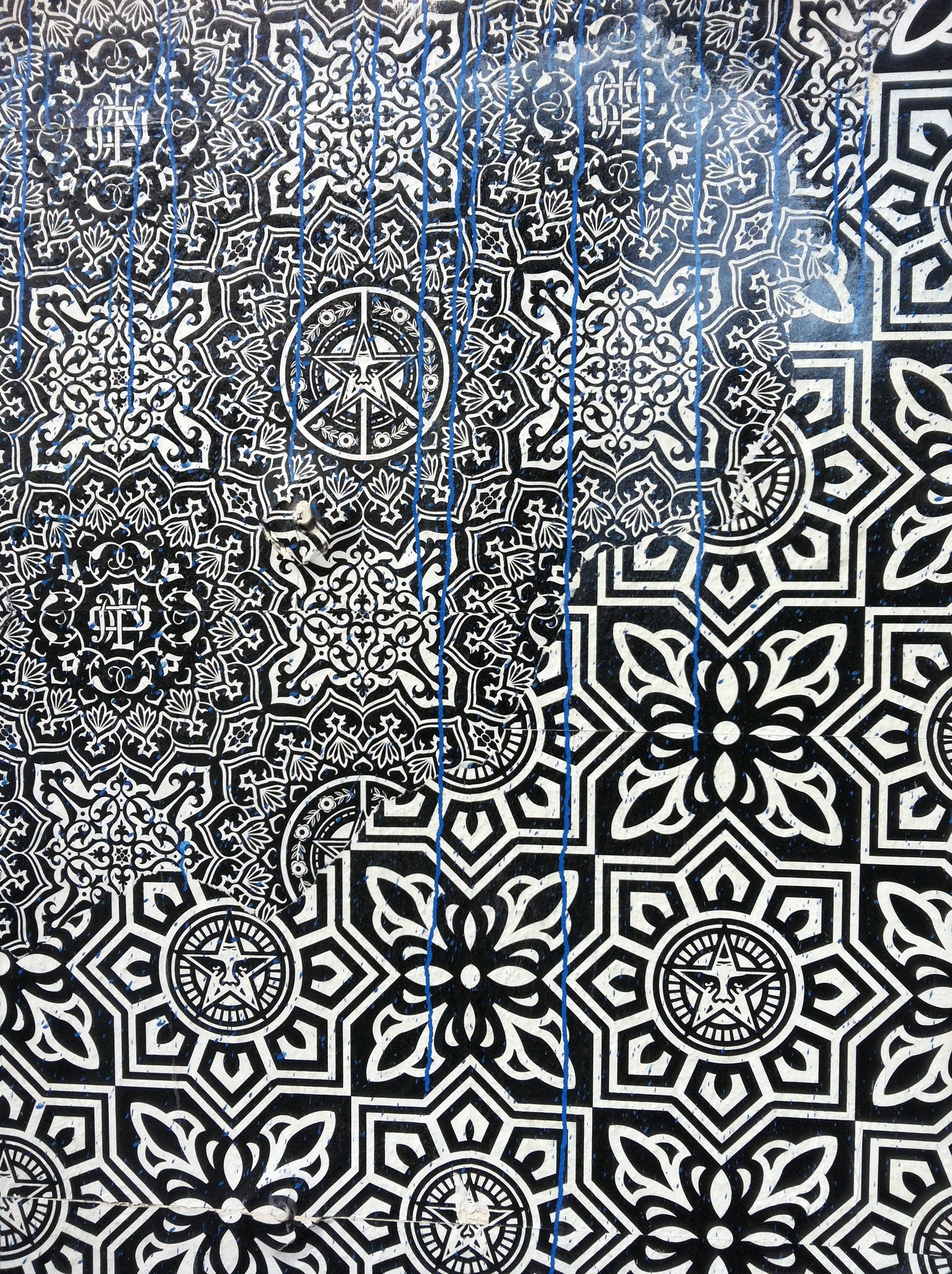 Free stock photo of graffiti, obey propaganda, pattern