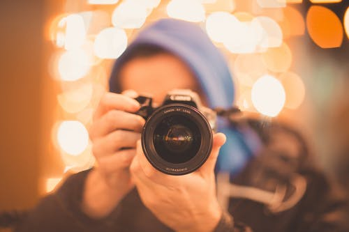 Free stock photo of city lights, lights, night, photographer