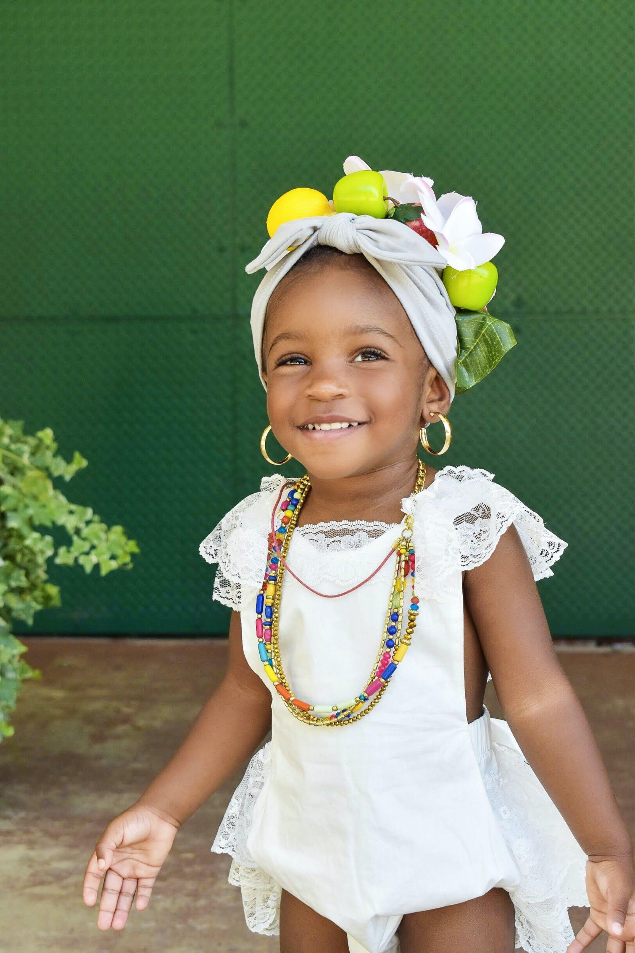Girl Wearing White Lace Dress