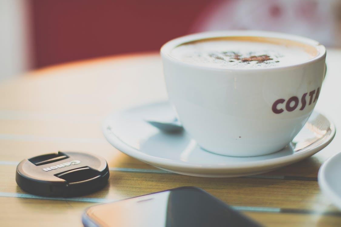 bebida, café, café com leite