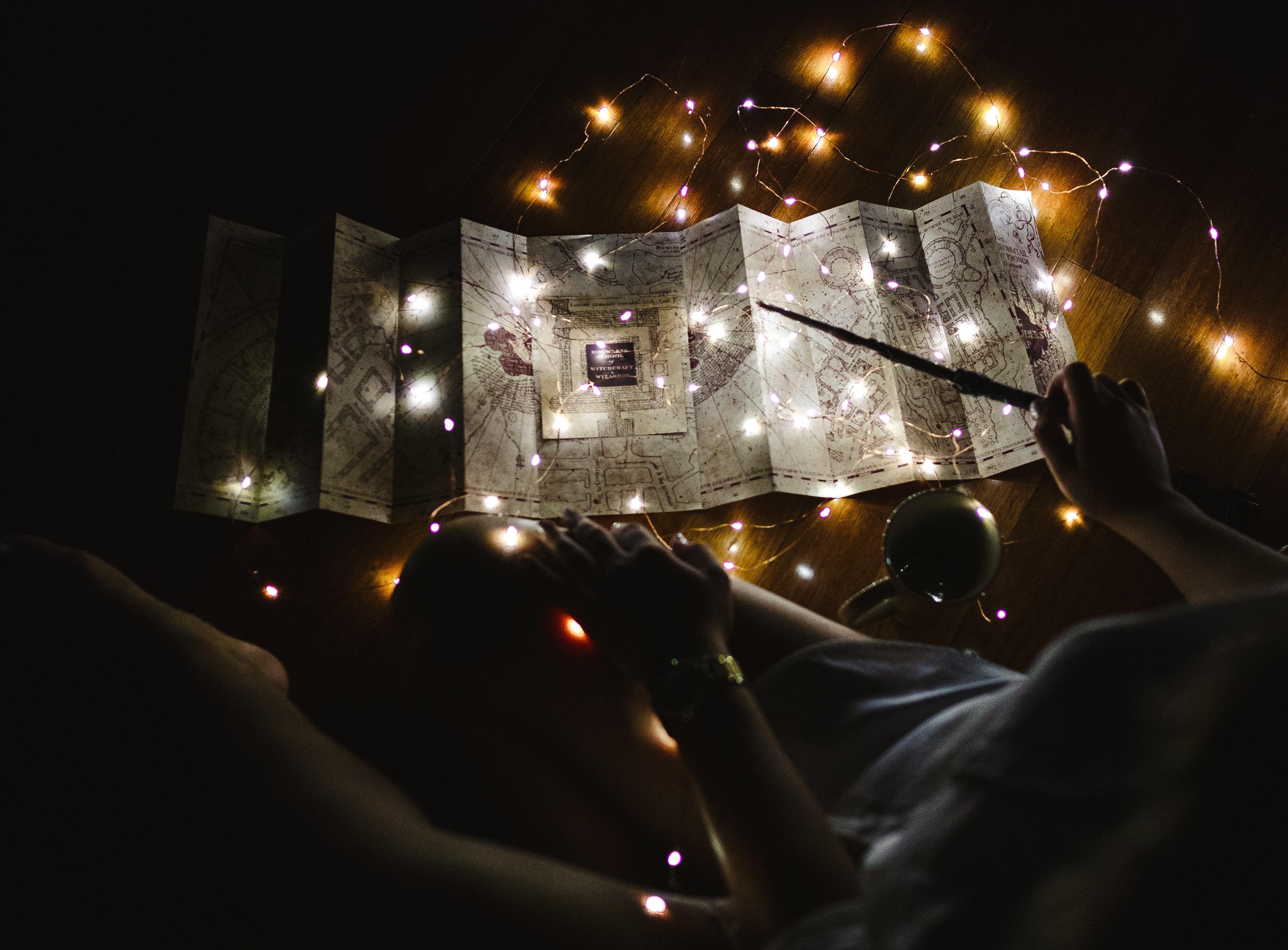 Free Stock Photo Of 4k Wallpaper Christmas Lights Harry Potter