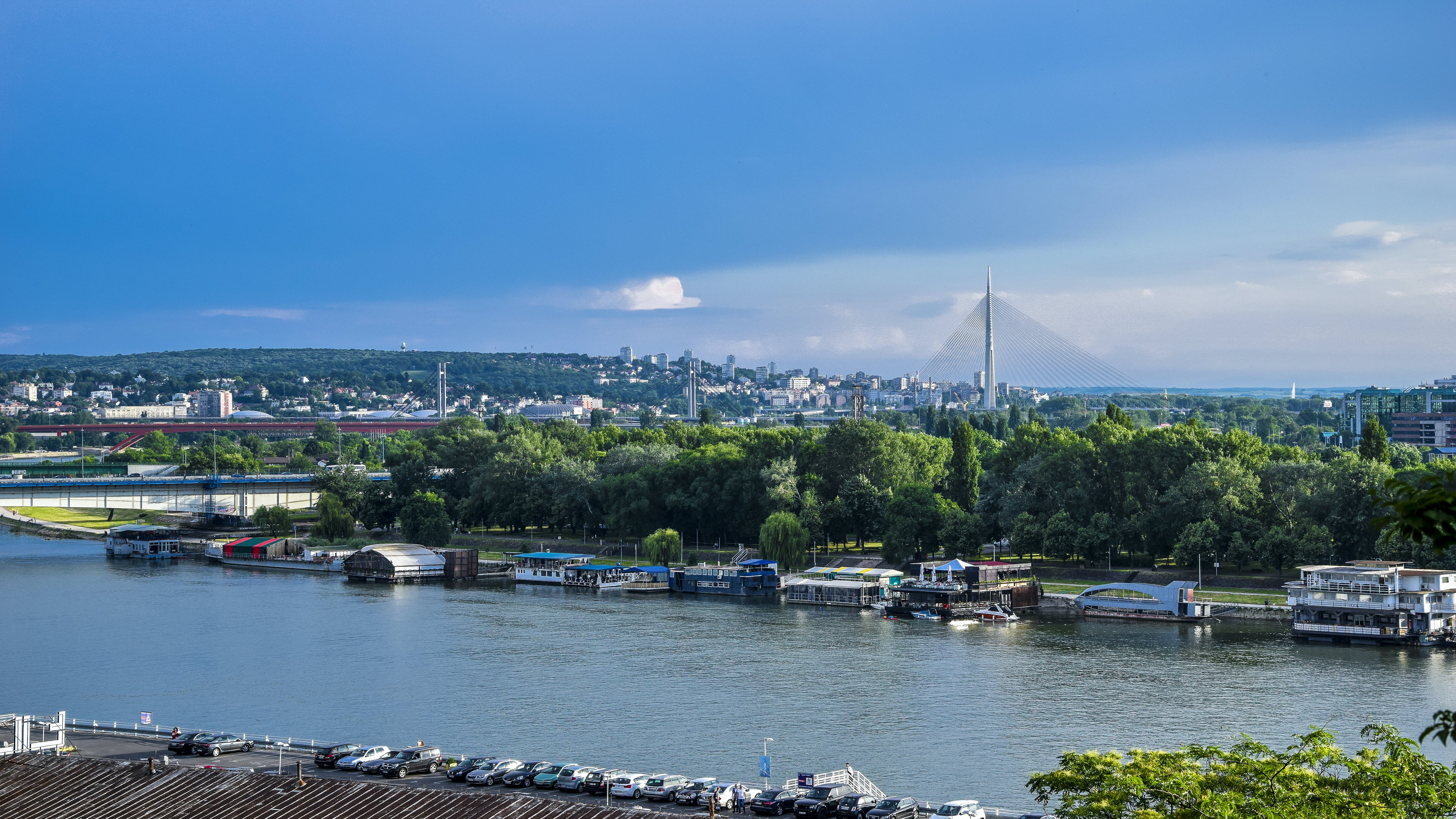 Free stock photo of Belgrade, blue sky, bridge, new