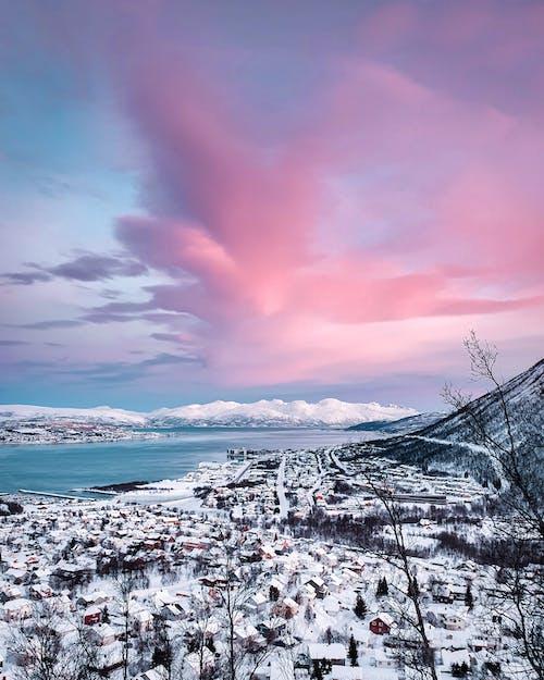 Бесплатное стоковое фото с вода, город, живописный, зима