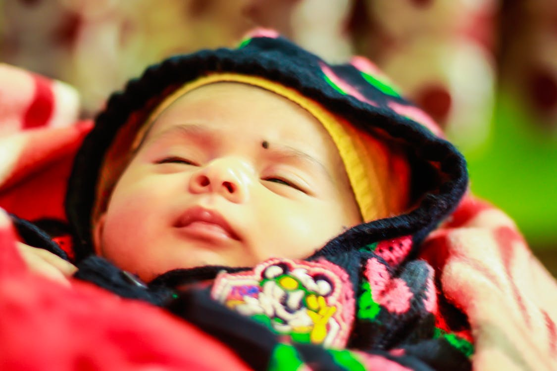 可愛的女孩, 新生兒, 睡眠