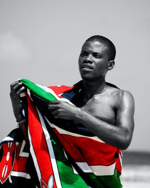 검은 색 모델, 블랙 앤 화이트, 아프리카 소년, 인물 사진의 무료 스톡 사진