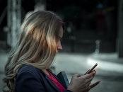 frau, smartphone, mädchen