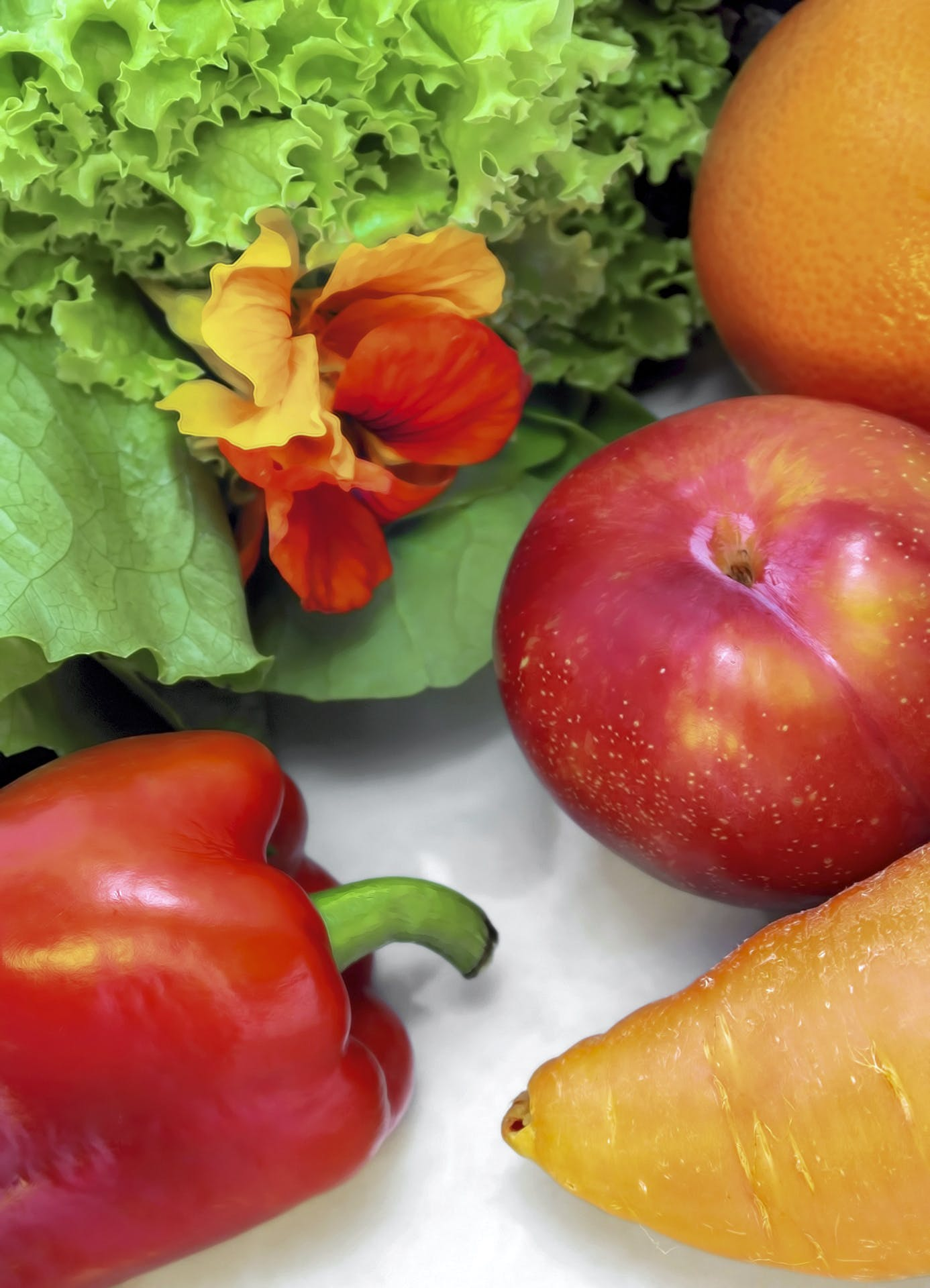Free stock photo of apples, carrots, color, flores