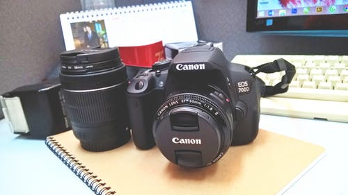 Gratis stockfoto met bloc note, cameralens, canon, dslr