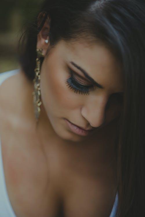 Woman Looking Down