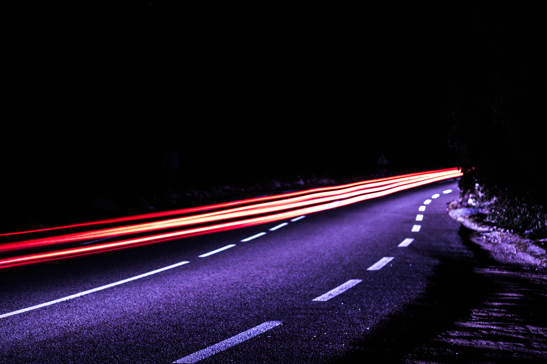 Free stock photo of black, blue, car lights, city