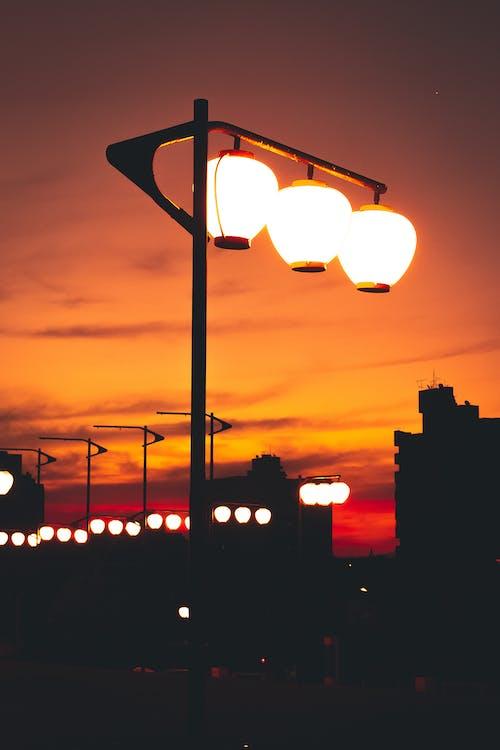 Photos gratuites de asphalte, composer, couleur orange, éblouissement