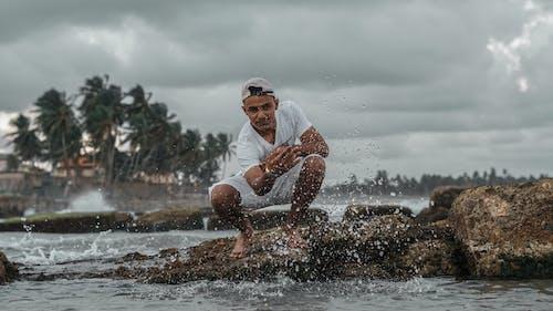 Foto stok gratis agua, caribe, laki-laki