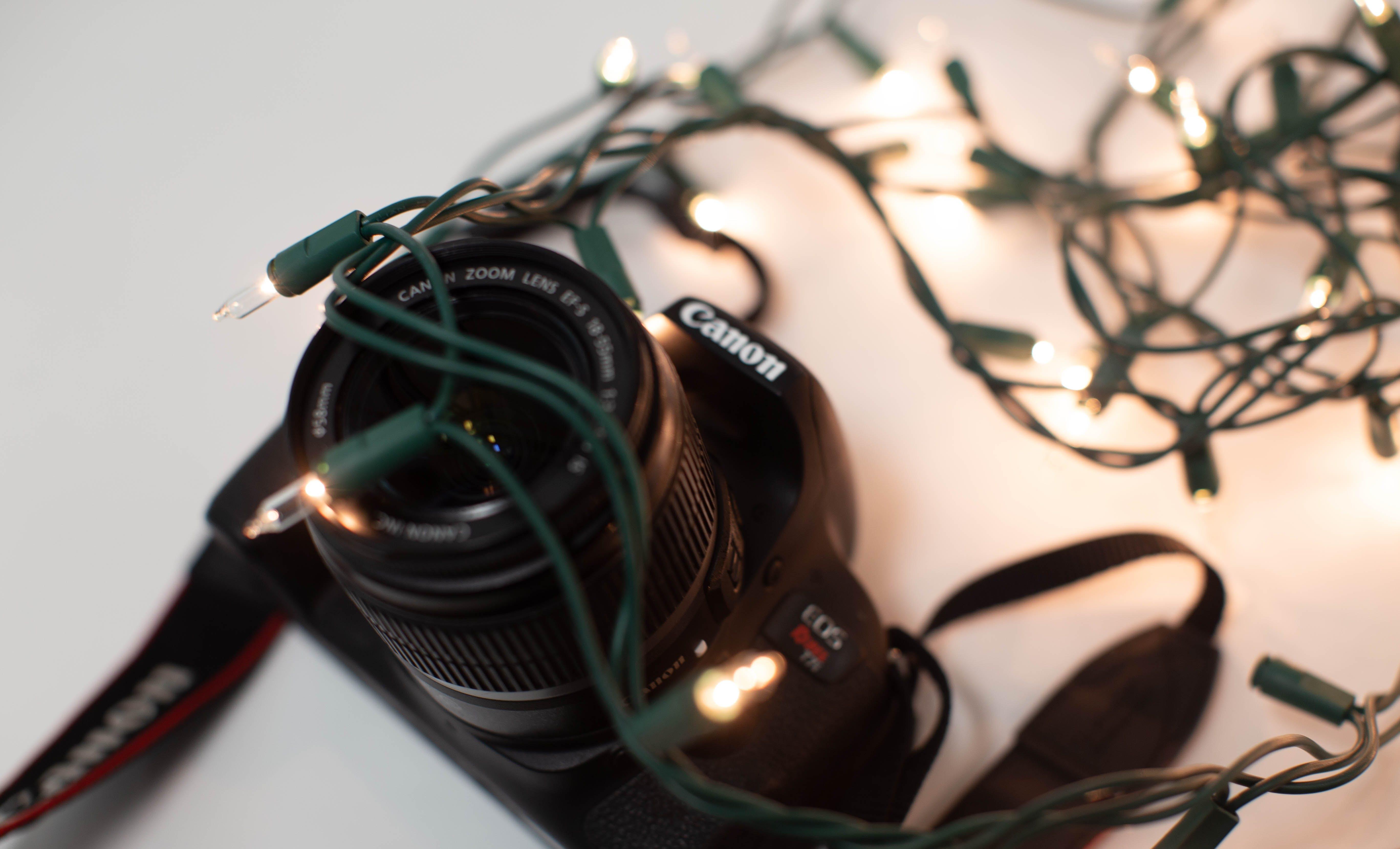 Foto profissional grátis de câmera, dslr, fotografia, luzes de Natal