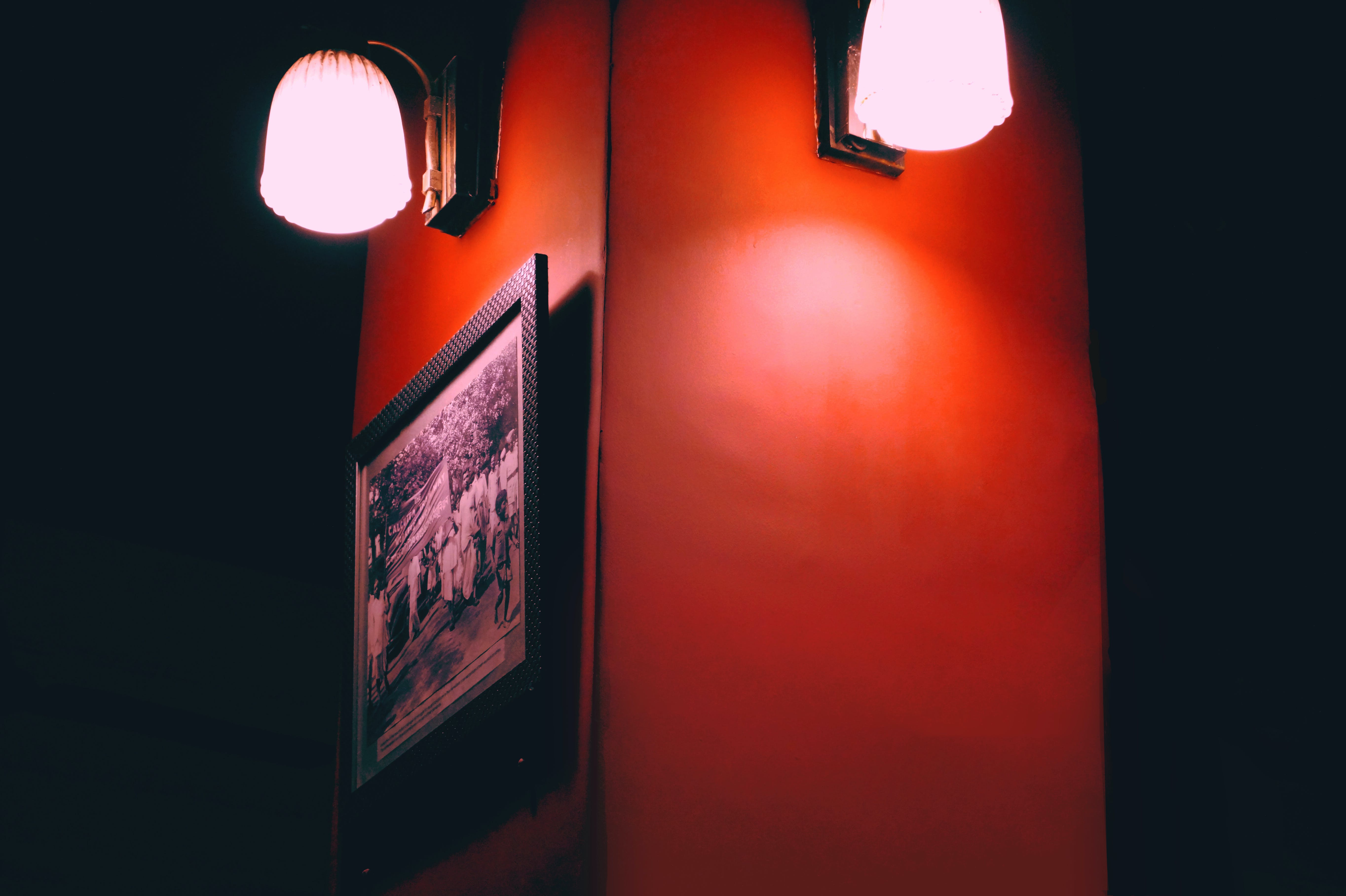 Free stock photo of ceiling lights, centered, wall art