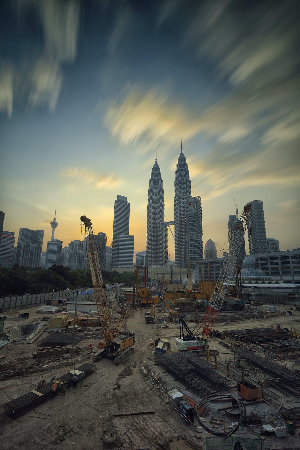 Kostenloses Stock Foto zu stadt, sonnenuntergang, skyline, gebäude