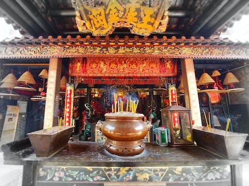 Δωρεάν στοκ φωτογραφιών με βουδιστικός ναός, κινεζική αρχιτεκτονική, ναός, ράβδος λιβανιού
