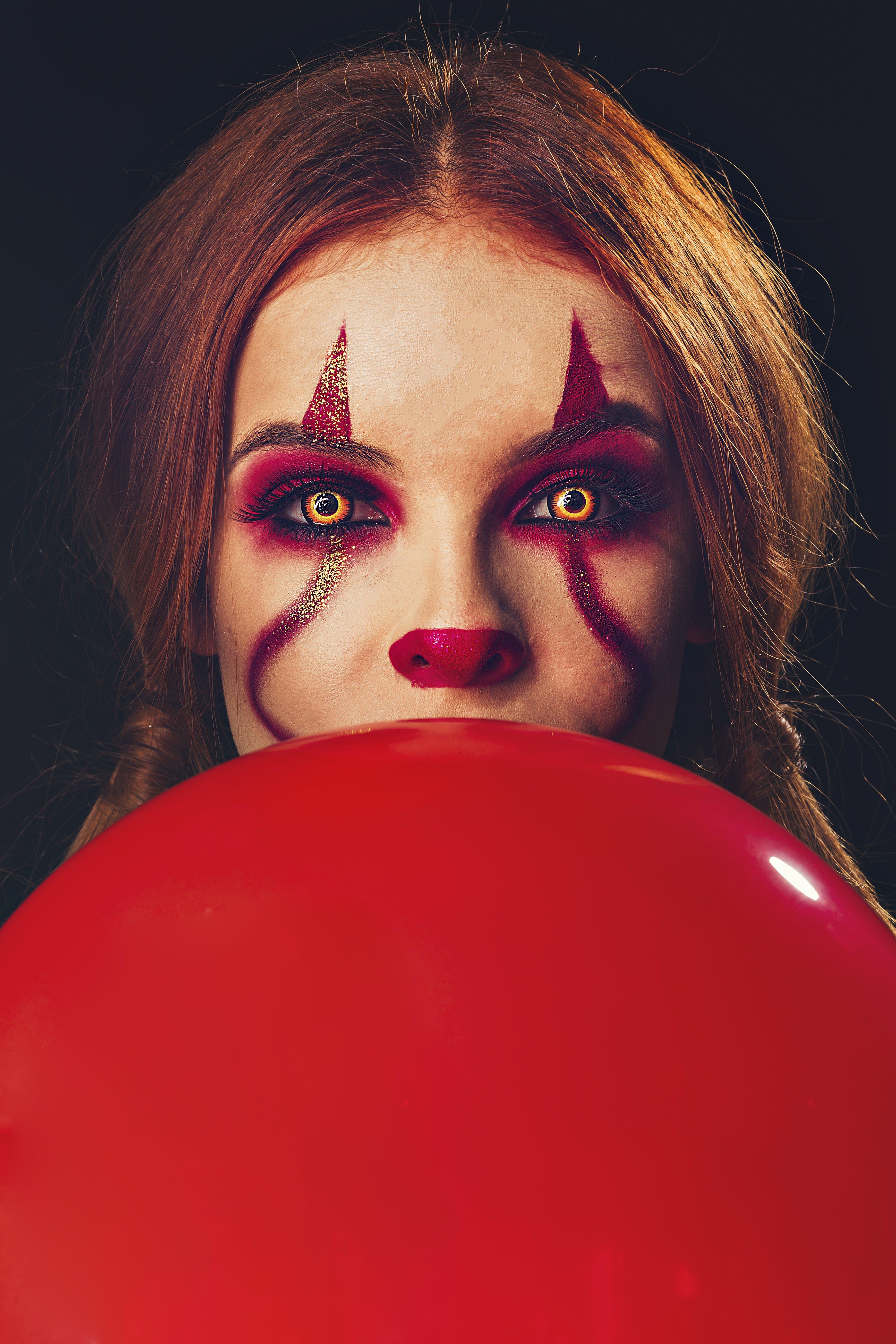 Kostenloses Stock Foto zu angst, augen, ballon, clown