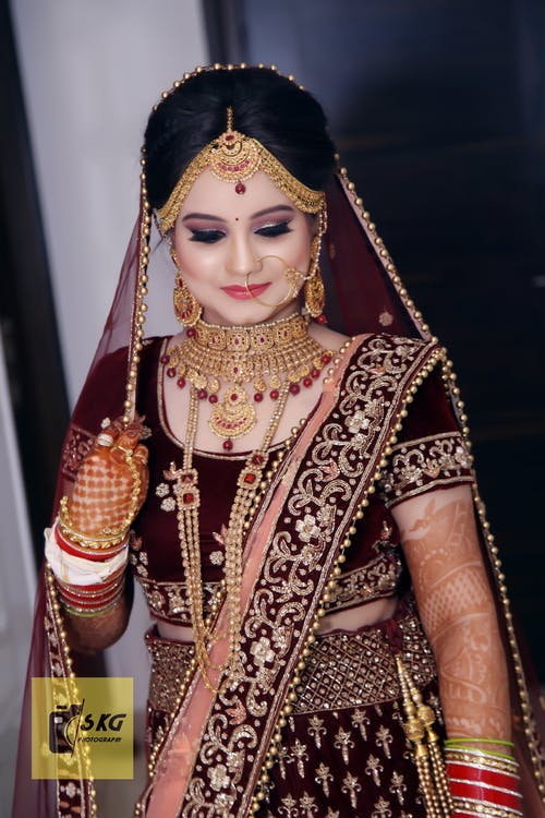 Free Stock Photo Of Bride Eye Makeup Indian Bridal
