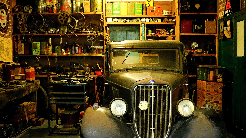 arbetsbänk, bil, bilverkstad