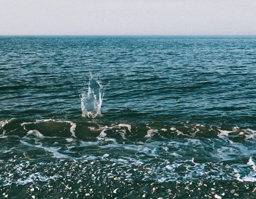 Ingyenes stockfotó csobbanás, horizont, óceán, part témában