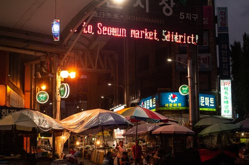 Free stock photo of aesthetics, korea, lights, market