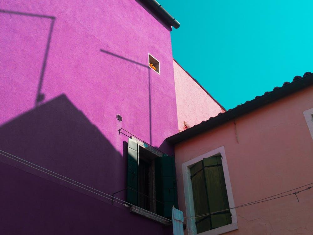 Purple Painted Wall