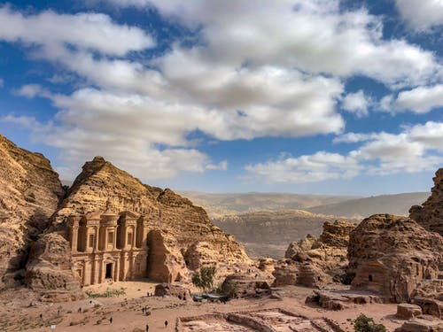 Free stock photo of desert, famous landmark, jordan, monastery