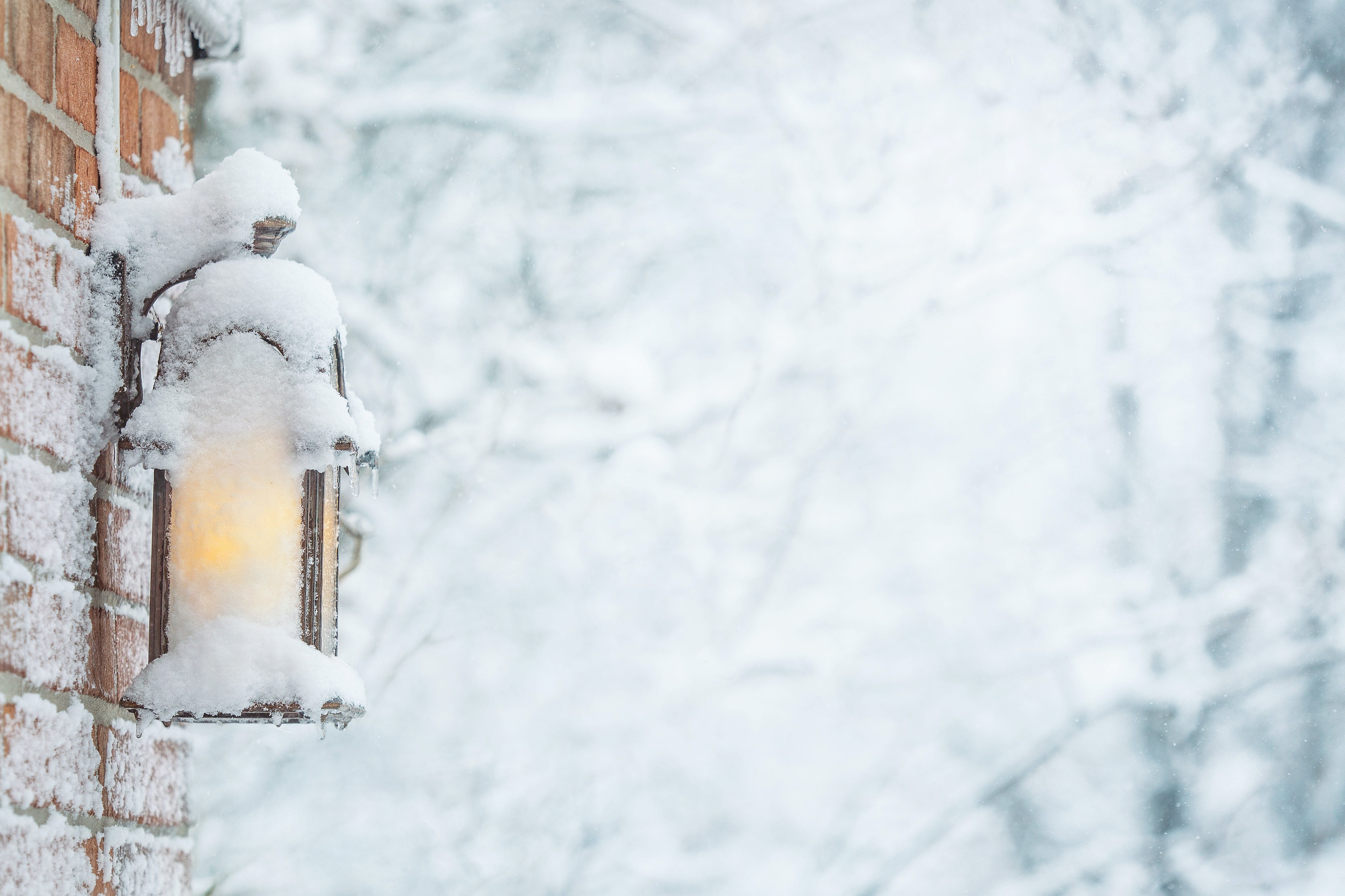 Free stock photo of background, cold, frost, lamp