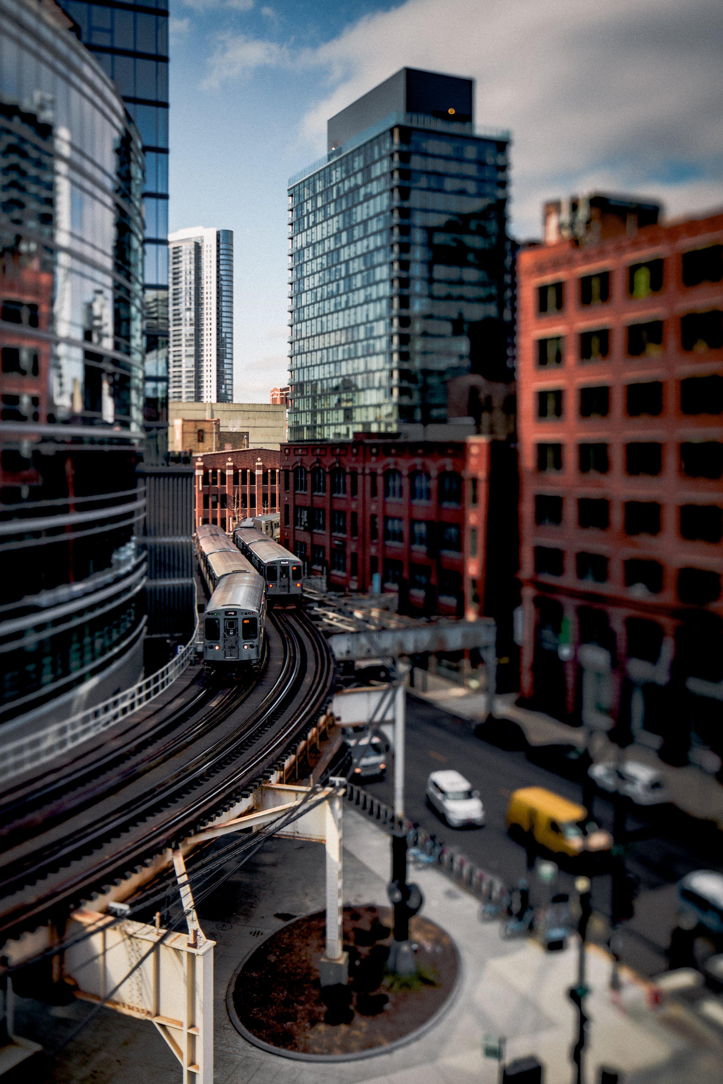 Time Lapse Photography of Train Running Near Building