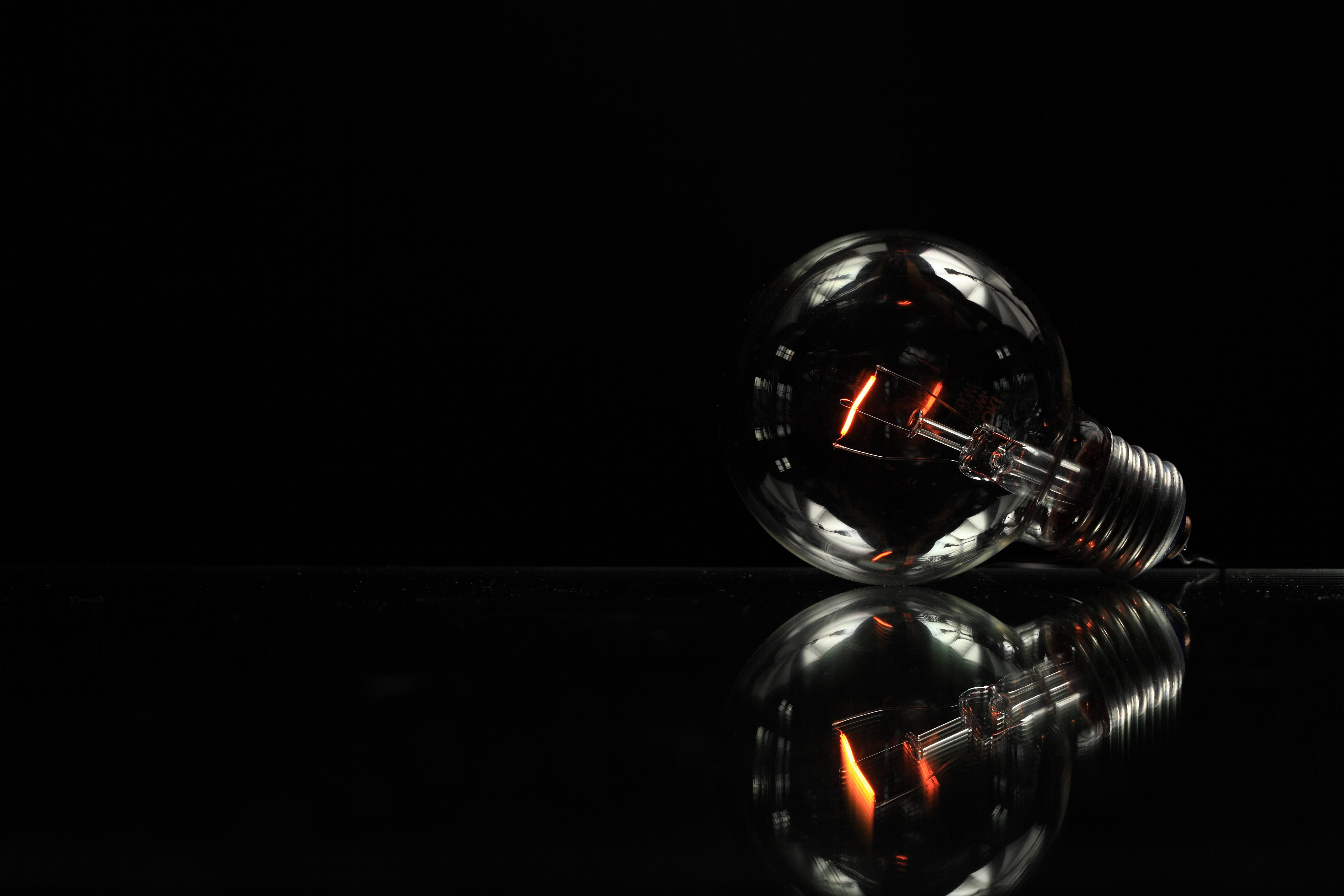 bulb, electricity, glass