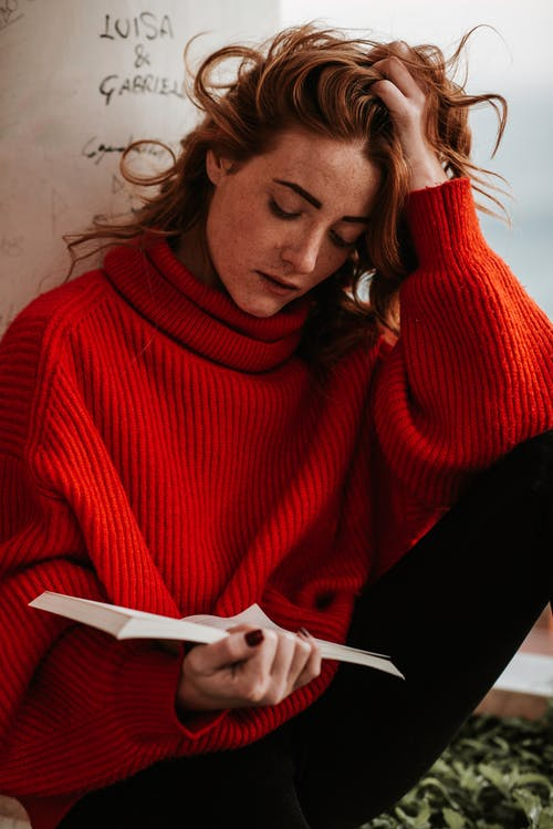 Woman Reading Books