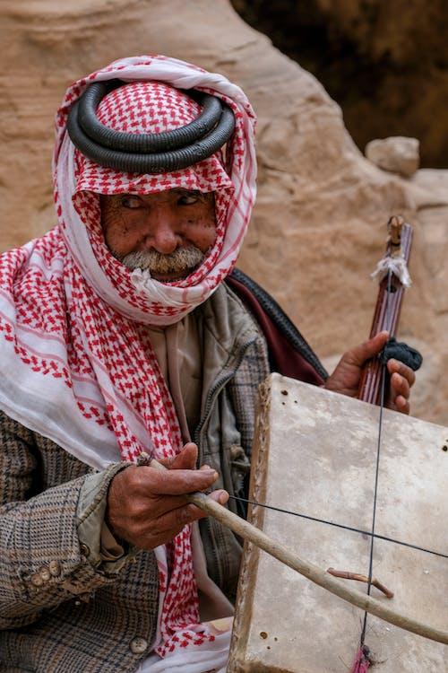 Základová fotografie zdarma na téma beduín, housle, jordan, petra