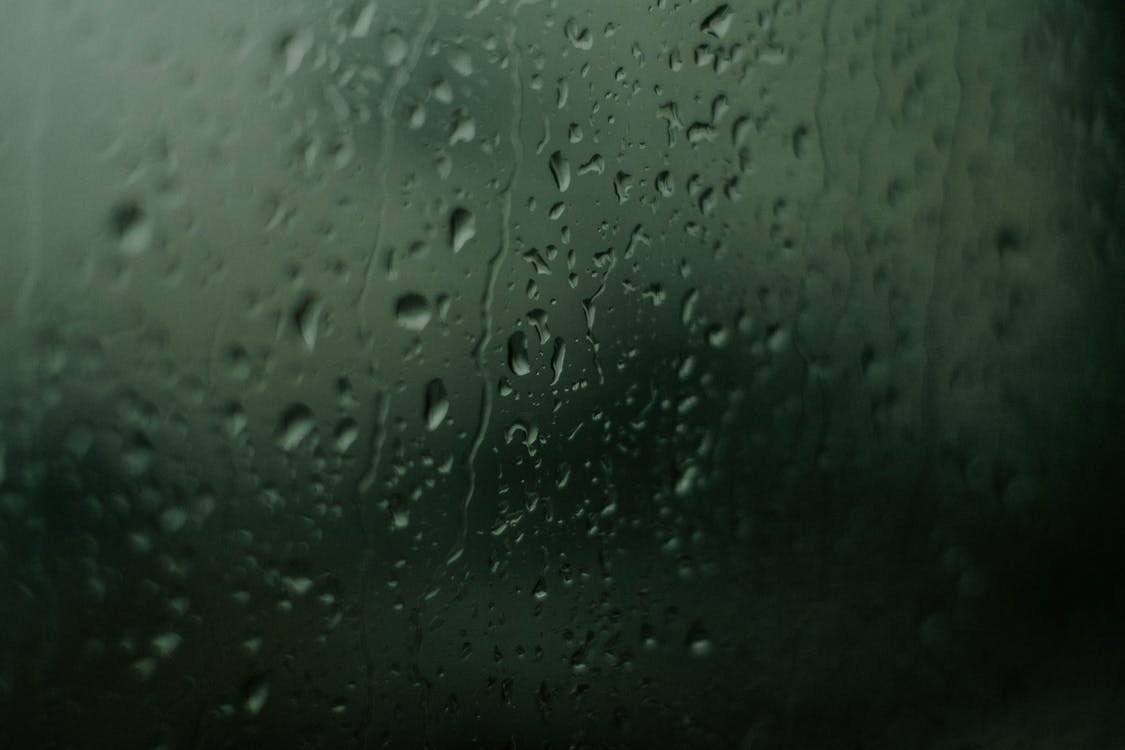 Water Droplets On Glass Window Free Stock Photo