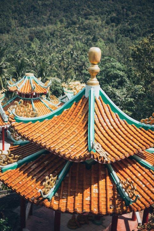 коричнево синий храм